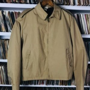 Creighton US Navy Tan Windbreaker 3729 Vintage